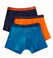 Kenneth Cole Reaction Essentials 100% Cotton Two Tone Trunks - 3 Pack REM8309